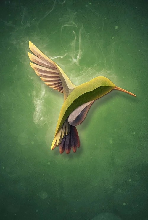 Create a Textured Bird with Smoke in Photoshop